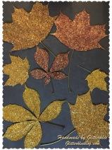 Glitzer Blätter
