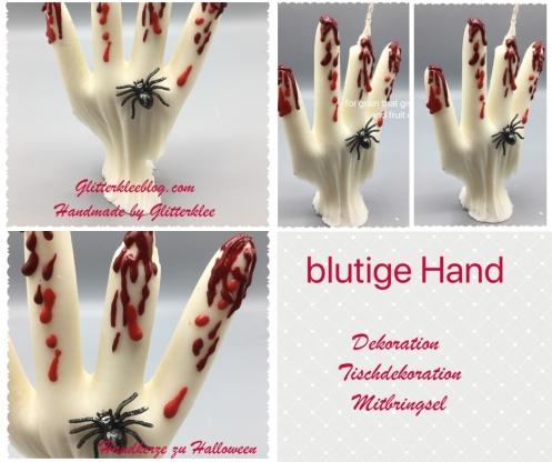 Layout blutige Hand