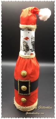 Flaschen Kreativ Verpackt Zu Weihnachten Diy Geschenkideen