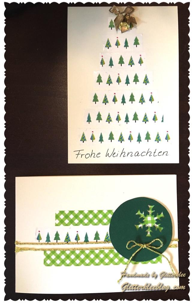 weihnachtskarten last minute mit washi tape diy. Black Bedroom Furniture Sets. Home Design Ideas