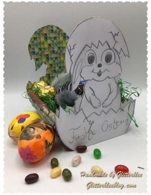 Osternest Hase in Eierschale-1