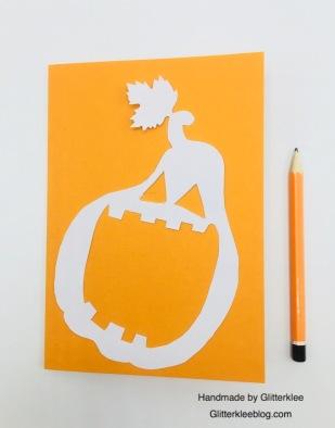 Halloween Karte Schablone übertragen
