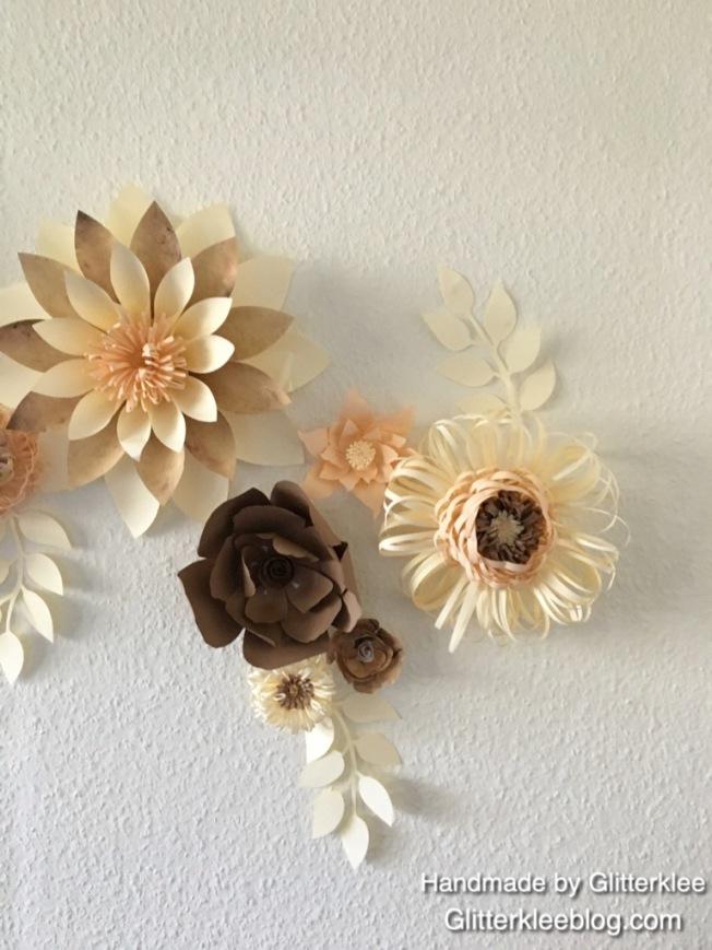 Blütenwanddekoration
